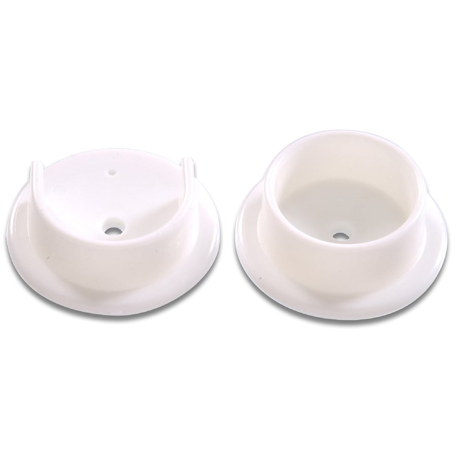 The Hillman Group 5-Pack 1.375-in White Circular Shelving Hardware