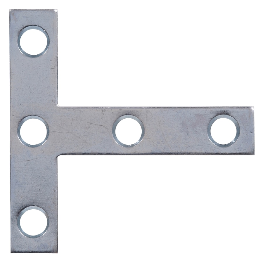 The Hillman Group 5-Pack 4-in x 4-in Zinc-Plated Flat Braces