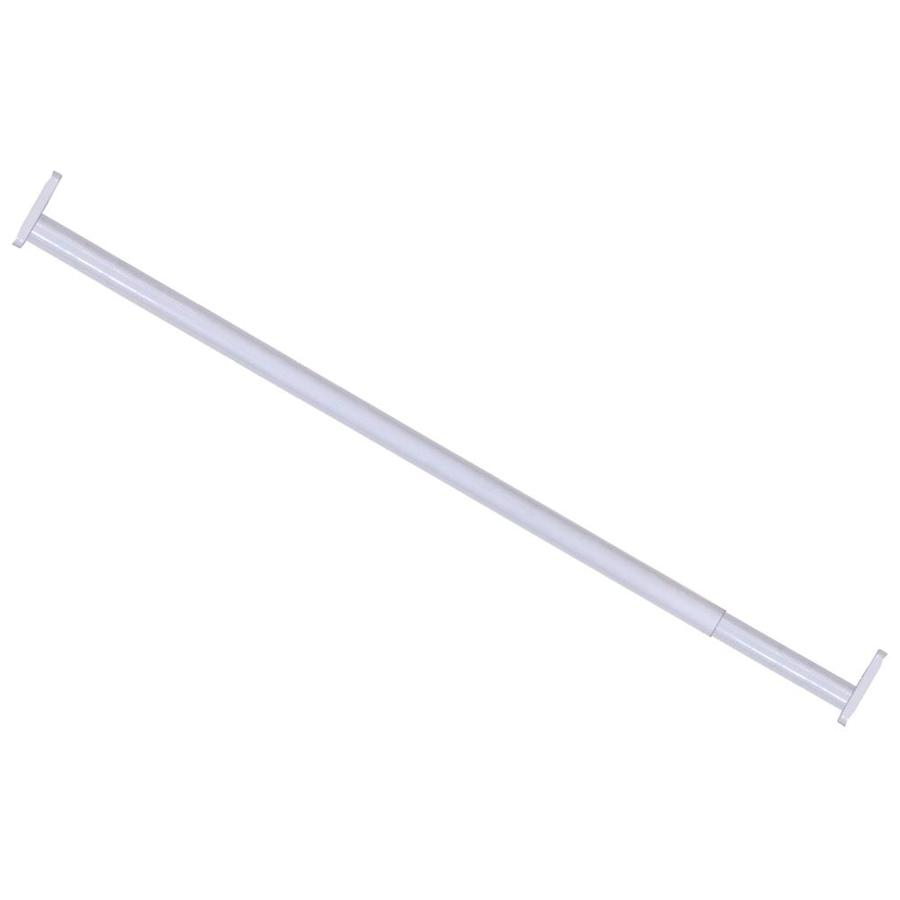 The Hillman Group 72-in L x 1-in H x 1-in W Extendable Metal Closet Rod with Hardware