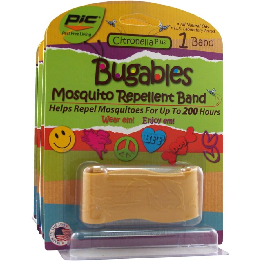 PIC 12-Pack Citronella Wide Band Bracelets