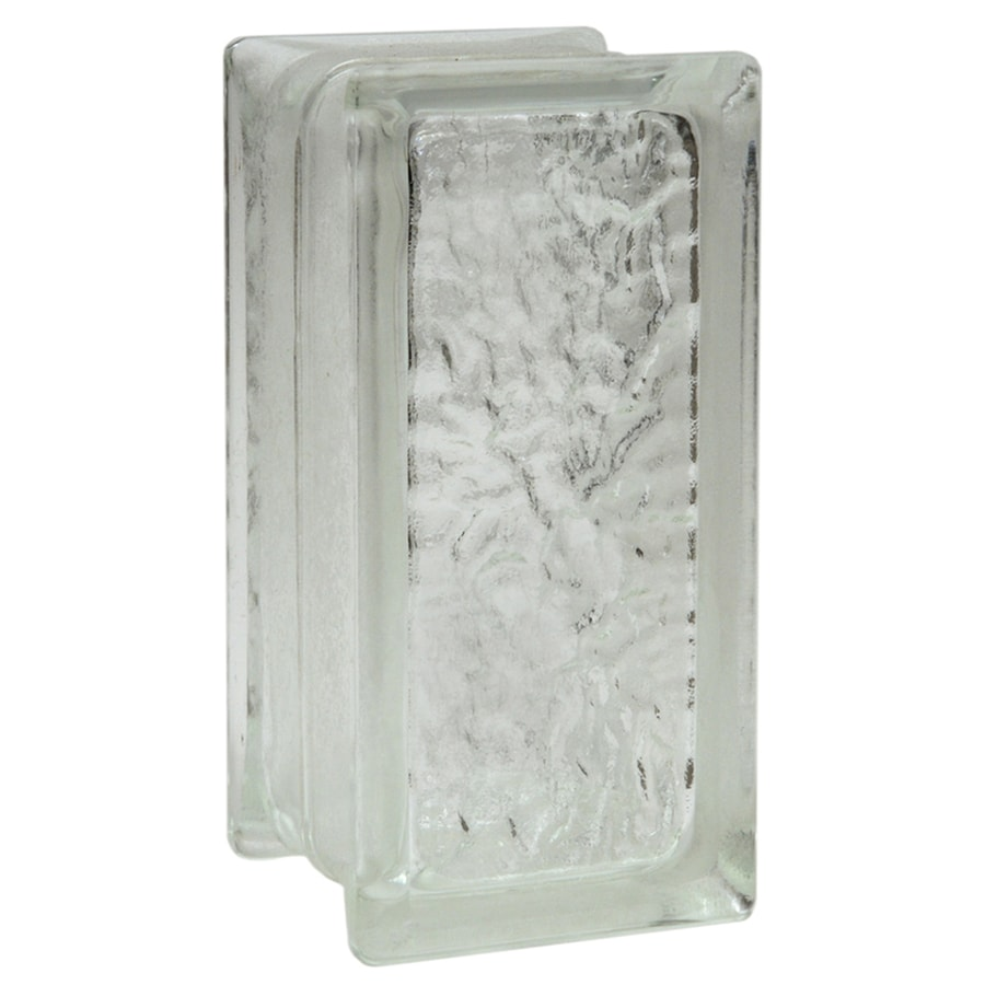 Pittsburgh Corning Icescapes Premiere 12-Pack Glass Blocks (Common: 8-in H x 4-in W x 4-in D; Actual: 7.75-in H x 3.75-in W x 3.87-in D)