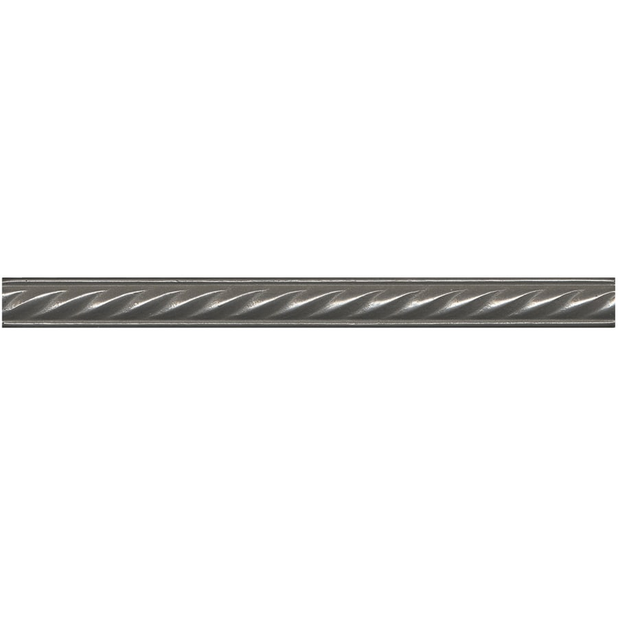 Somerset Collection 20-Pack Somerset Bright Nickel Metal Tile Liner (Common: 1/2-in x 6-in; Actual: 0.5-in x 5.94-in)