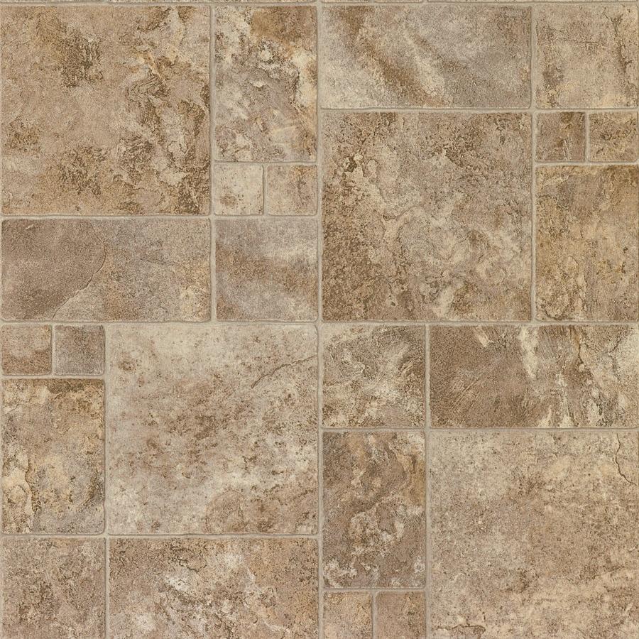 STAINMASTER 12-ft W Bayridge Sediment Tile Low-Gloss Finish Sheet Vinyl
