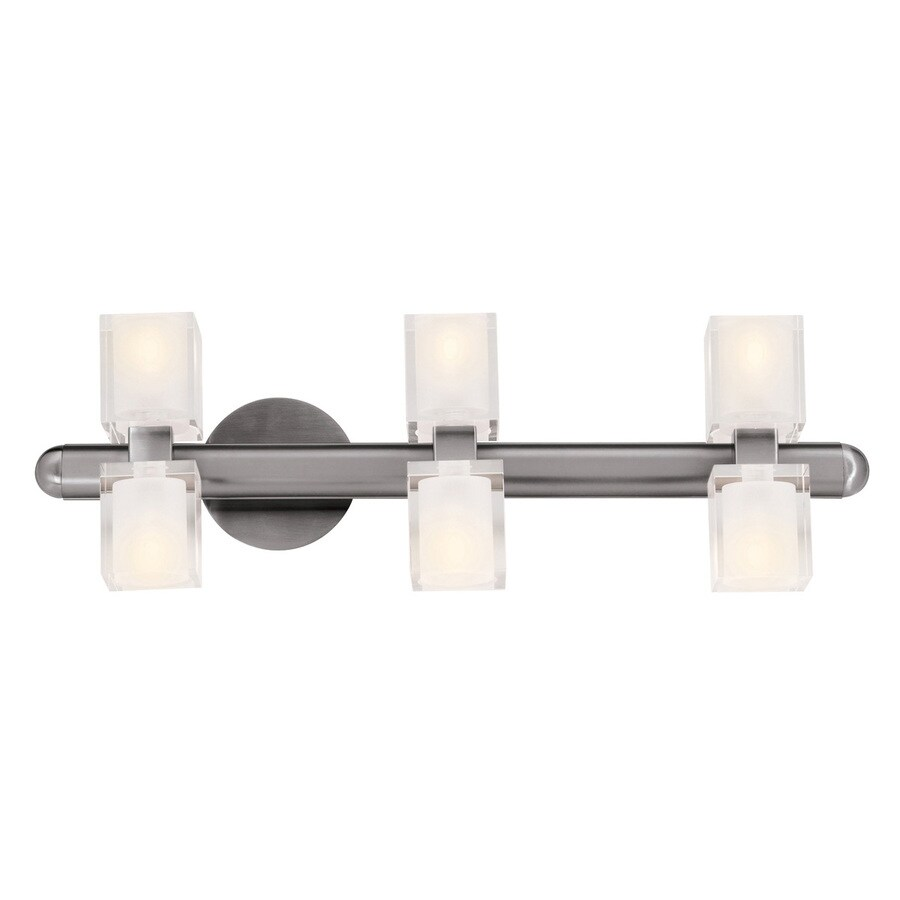 Access Lighting Astor 24.5-in W 6-Light Brushed Steel Arm Hardwired Wall Sconce