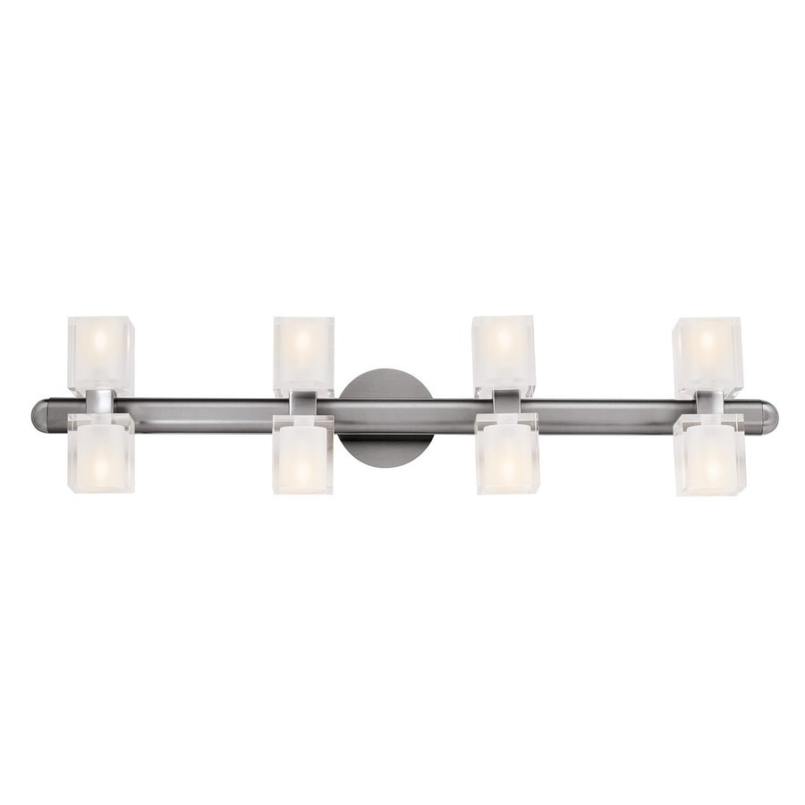 Shop Access Lighting 8 Light Astor Brushed Steel Bathroom Vanity Light At