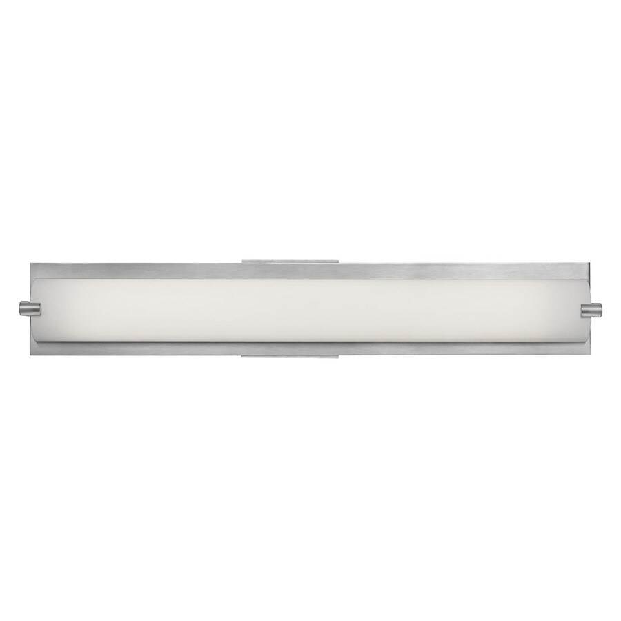 Access Lighting Geneva 24.5-in W 1-Light Brushed Steel Pocket Hardwired Wall Sconce