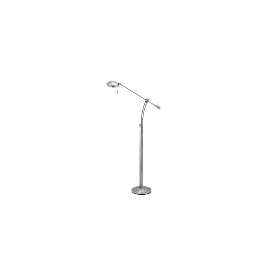 Access Lighting 46-in Brushed Steel Floor Lamp with Shade