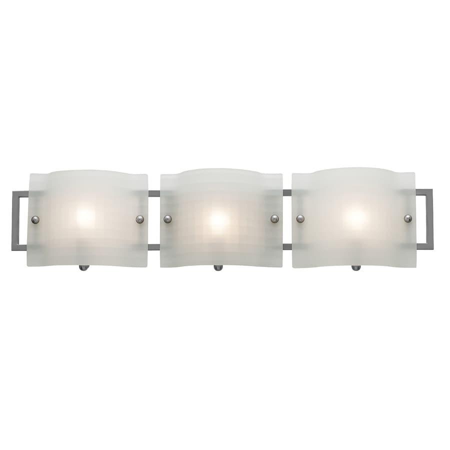 Access Lighting 3-Light Nara Brushed Steel Bathroom Vanity Light