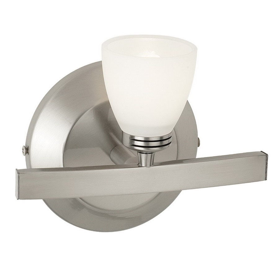 Access Lighting Classical W 1-Light Matte Chrome Arm Hardwired Wall Sconce