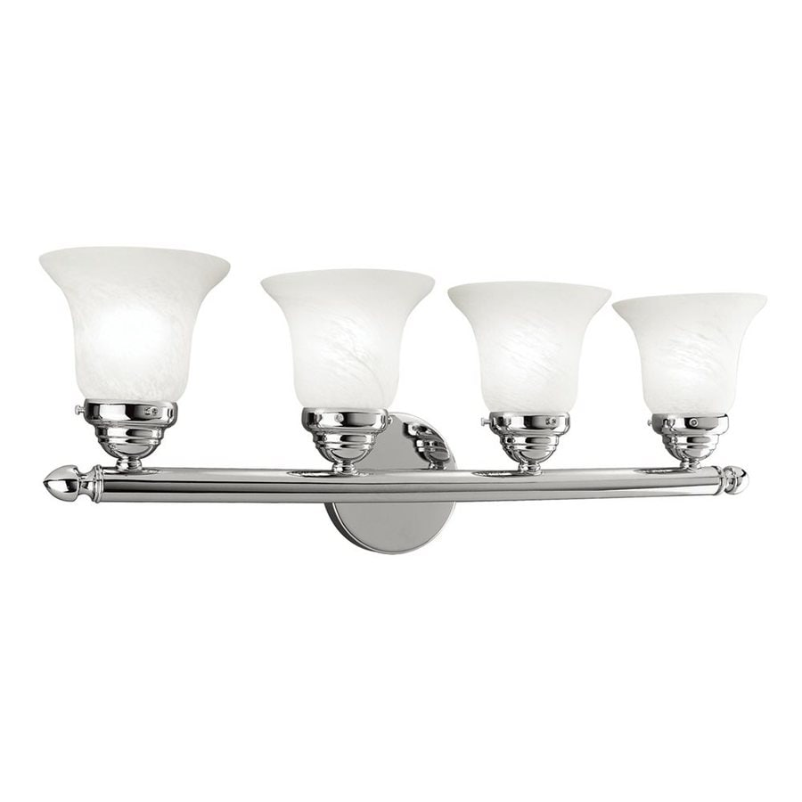 Livex Lighting 4-Light Home Basics Chrome Bathroom Vanity Light