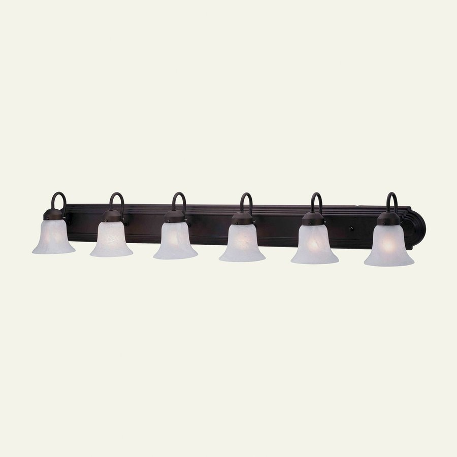 Livex Lighting 6-Light Home Basics Bronze Bathroom Vanity Light