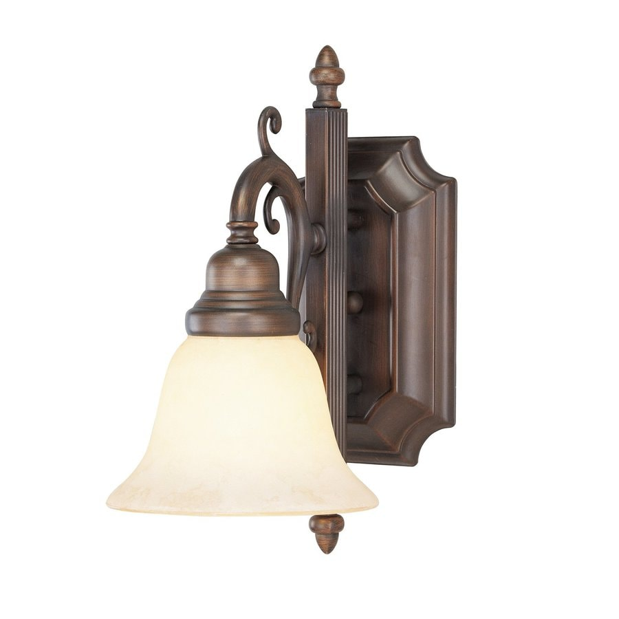 Livex Lighting French Regency 6-in W 1-Light Imperial Bronze Arm Hardwired Wall Sconce
