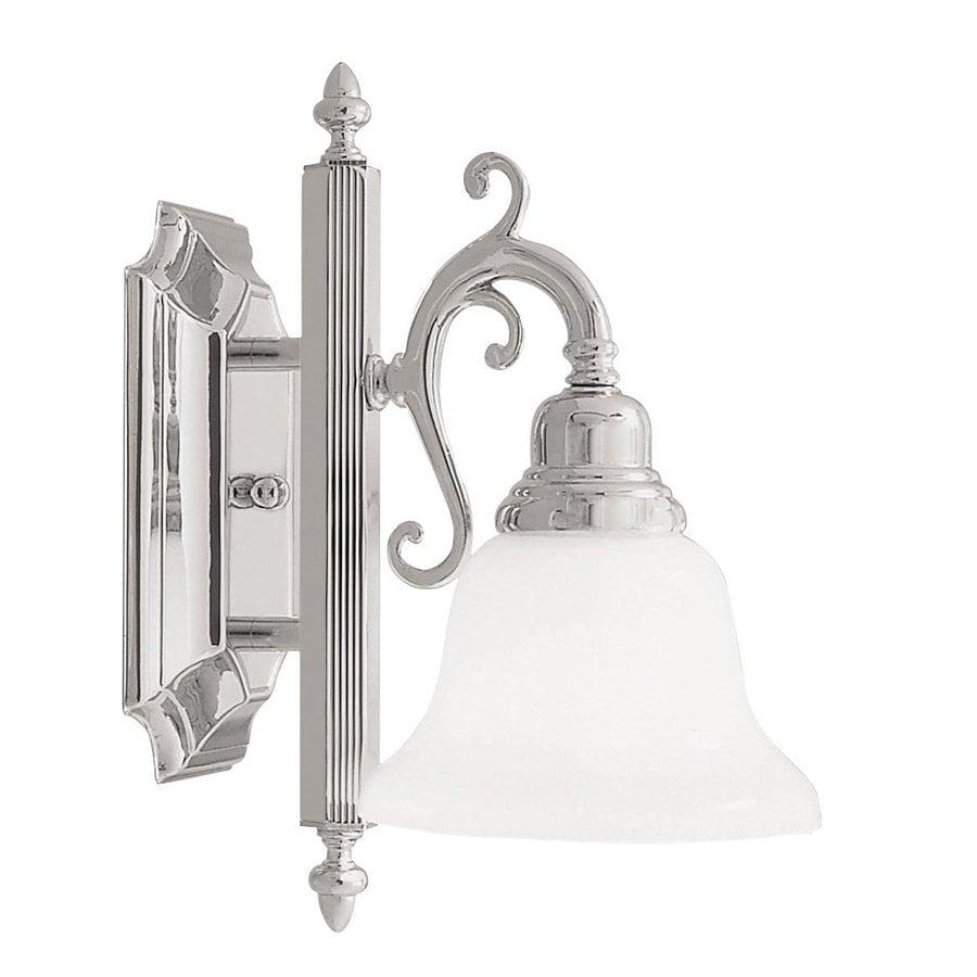 Livex Lighting French Regency 6-in W 1-Light Chrome Art Glass Arm Hardwired Wall Sconce