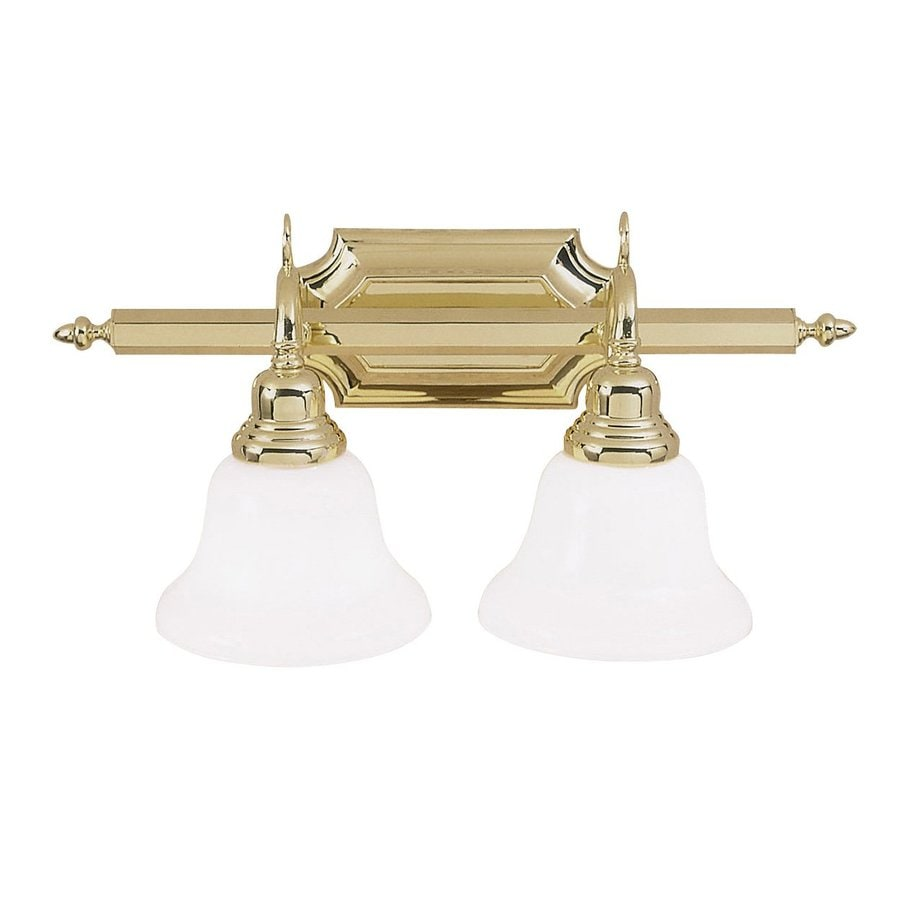 Vanity Lights Brass : Shop Livex Lighting 2-Light French Regency Polished Brass Bathroom Vanity Light at Lowes.com