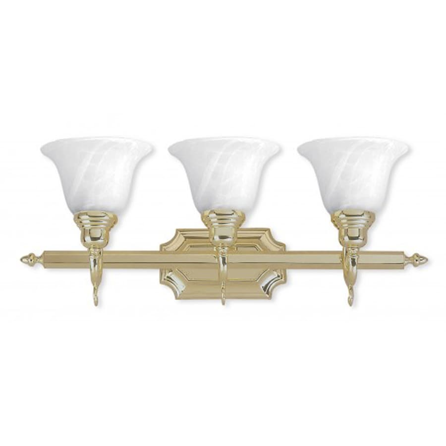 Vanity Lights Brass : Shop Livex Lighting 3-Light French Regency Polished Brass Bathroom Vanity Light at Lowes.com