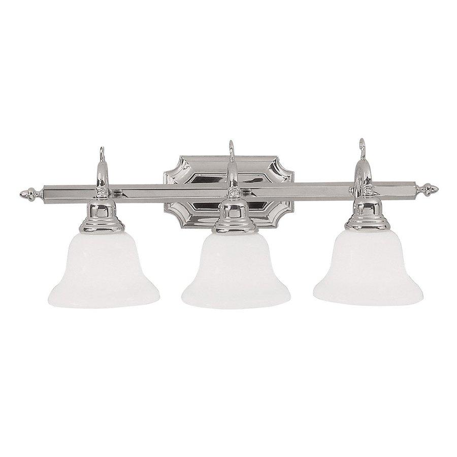 Livex Lighting 3-Light French Regency Chrome Bathroom Vanity Light