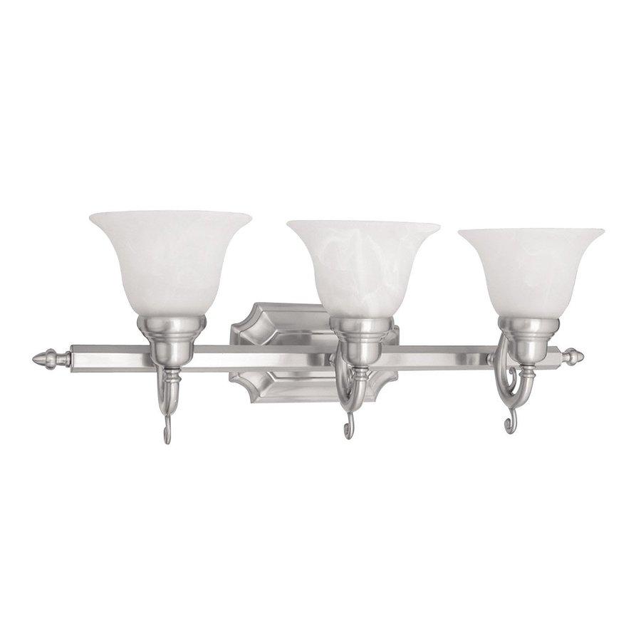 Livex Lighting 3-Light French Regency Brushed Nickel Bathroom Vanity Light