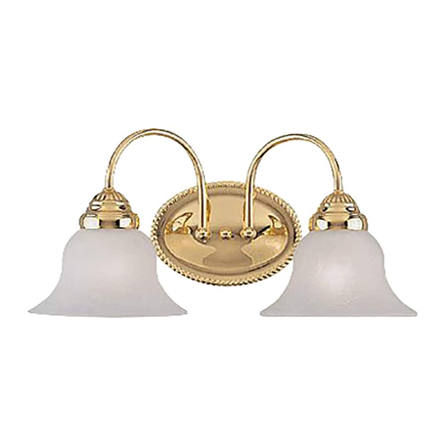 Vanity Lights Brass : Shop Livex Lighting 2-Light Edgemont Polished Brass Bathroom Vanity Light at Lowes.com