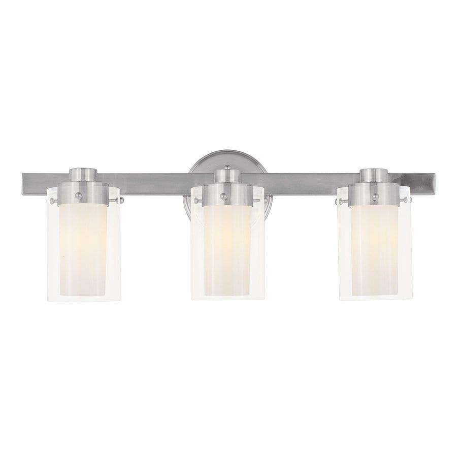 Livex Lighting 3-Light Manhattan Brushed Nickel Bathroom Vanity Light