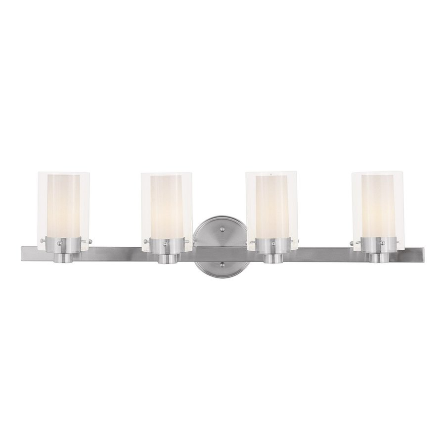 Livex Lighting 4-Light Manhattan Brushed Nickel Bathroom Vanity Light