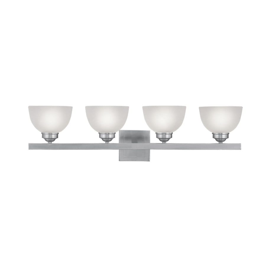 Livex Lighting 4-Light Somerset Brushed Nickel Bathroom Vanity Light