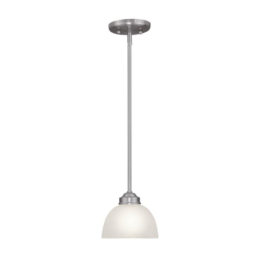 Livex Lighting Somerset 6.5-in Brushed Nickel Mini Bell Pendant