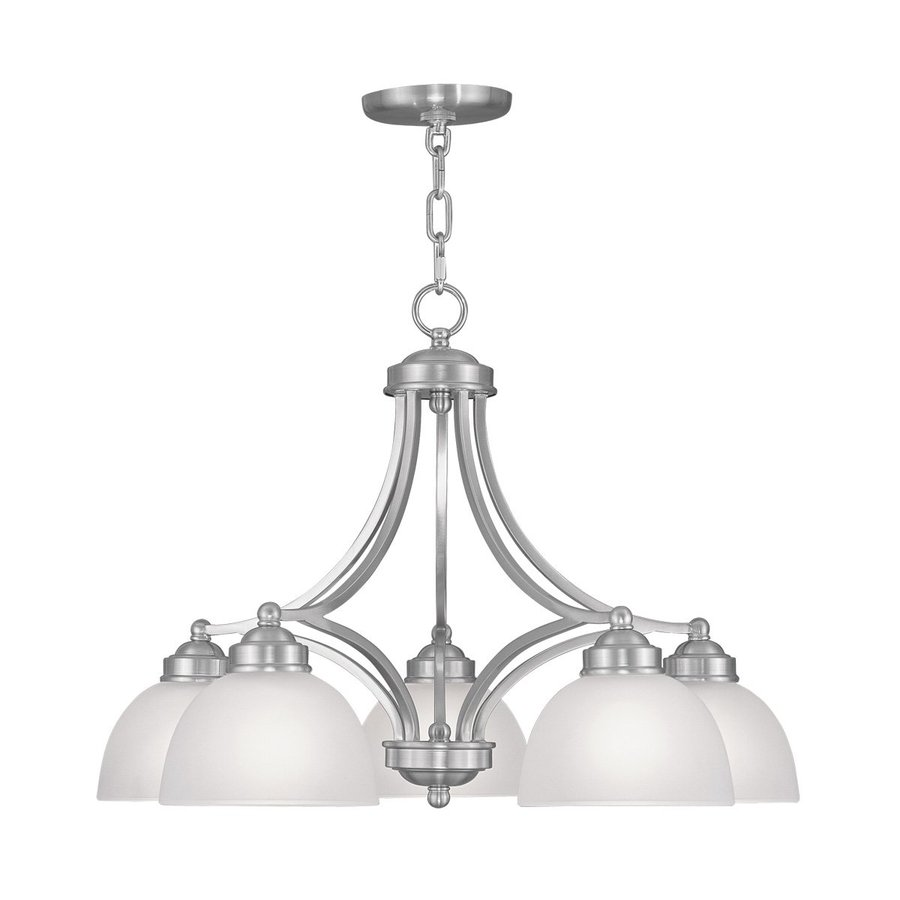 Shop Livex Lighting Somerset 25 In 5 Light Brushed Nickel