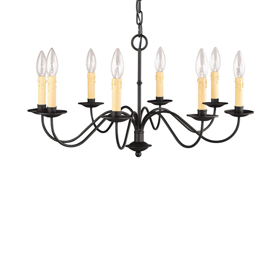 Shop Livex Lighting Heritage  Light Black Candle Chandelier At