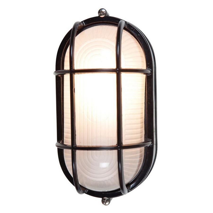 Access Lighting Nauticus 4-1/2-in Black Outdoor Wall Light ENERGY STAR