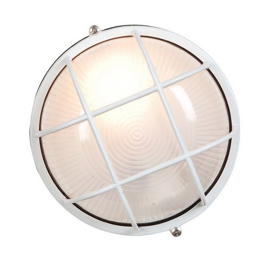 Access Lighting Nauticus 7-1/2-in White Outdoor Wall Light