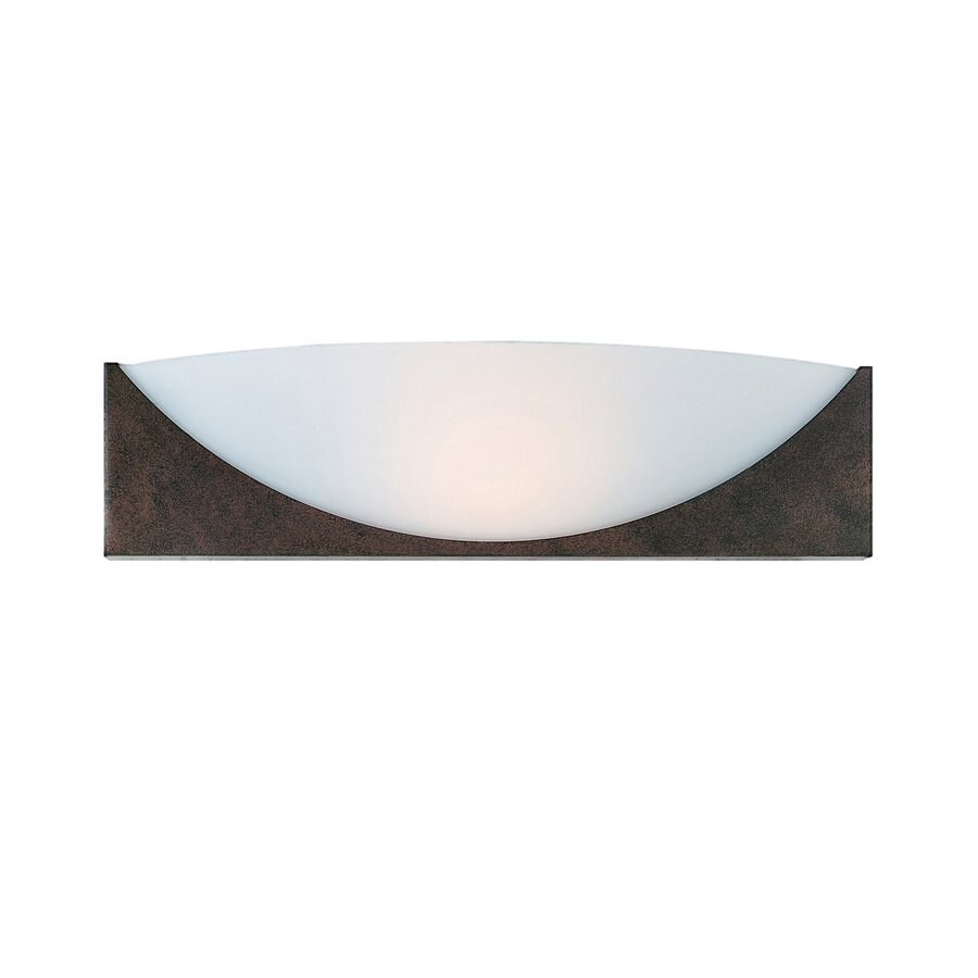 Access Lighting Thebes 16-in W 1-Light Rustic Pocket Hardwired Wall Sconce