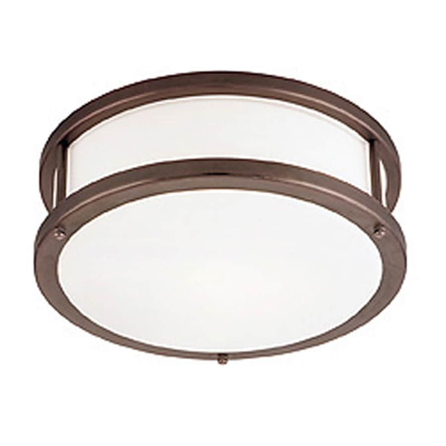 Access Lighting Conga 12-in W Bronze Ceiling Flush Mount Light