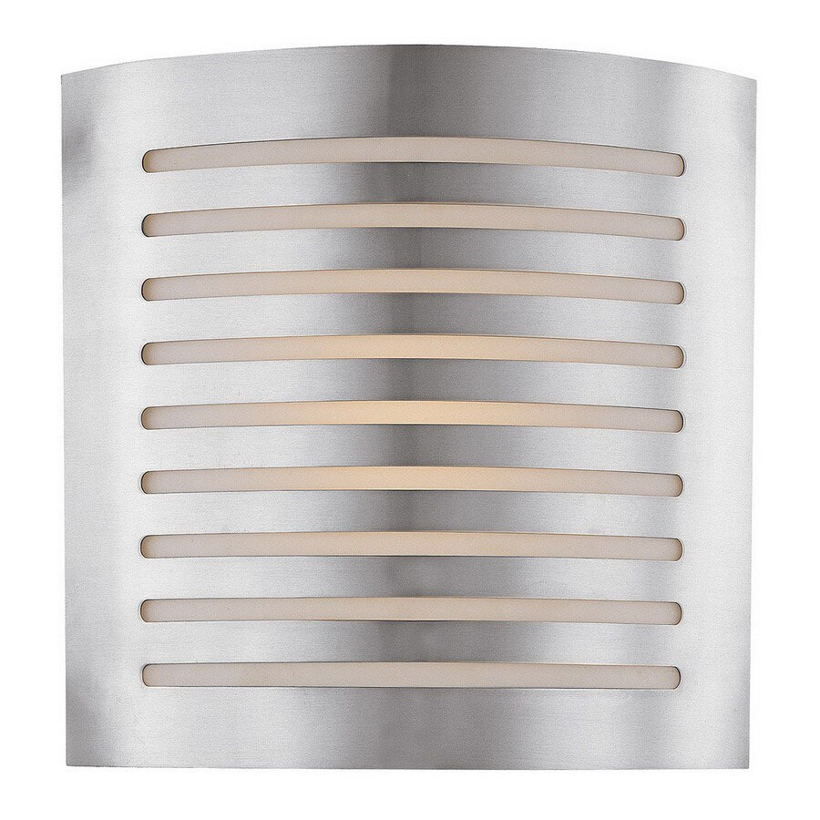 Access Lighting Krypton 12-in W 1-Light Brushed Steel Pocket Hardwired Wall Sconce