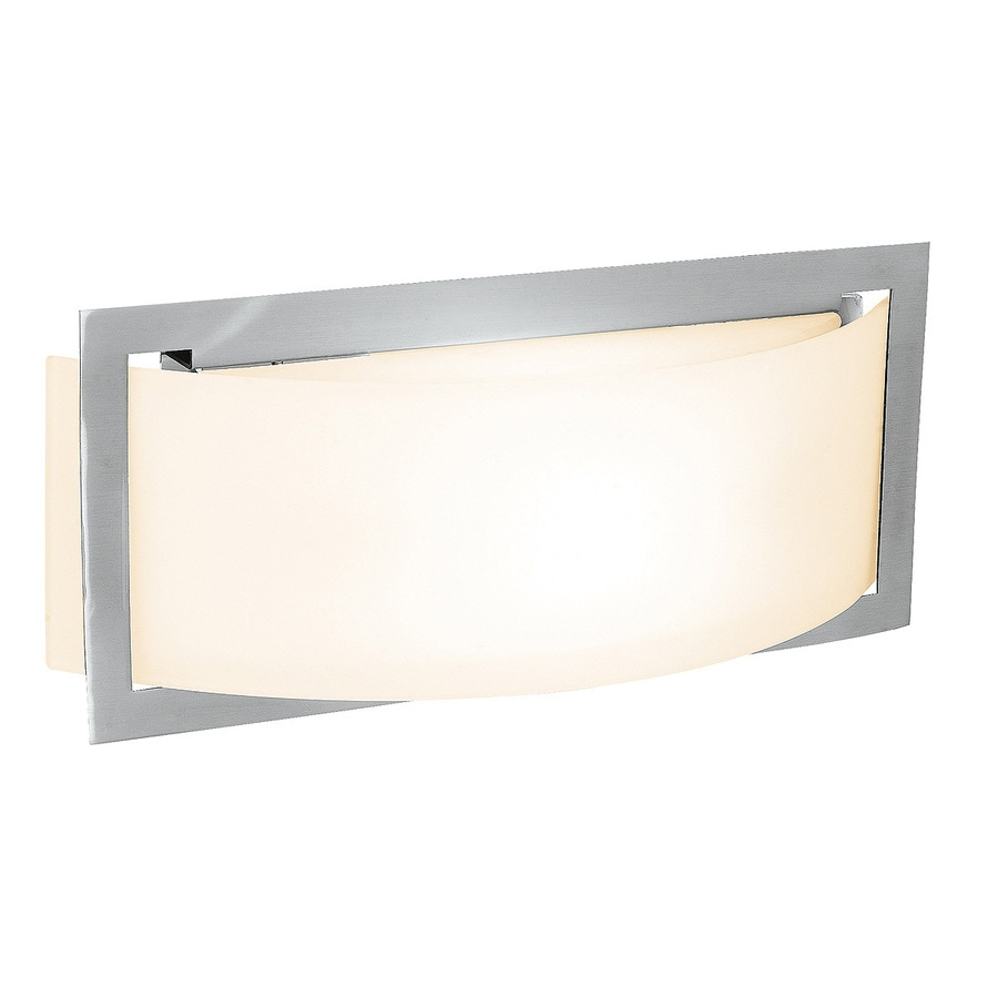 Access Lighting Argon 12-in W 1-Light Brushed Steel Pocket Hardwired Wall Sconce