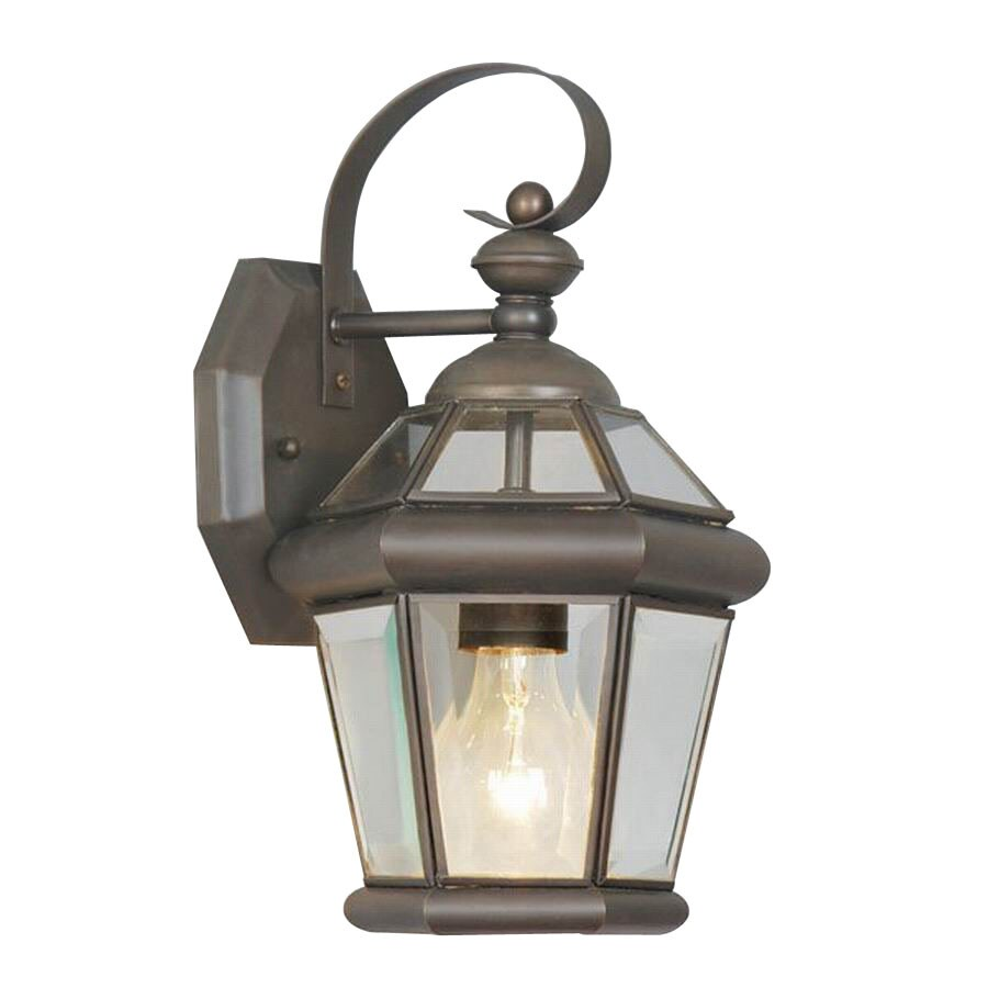 Livex Lighting Georgetown 11-in Bronze Outdoor Wall Light