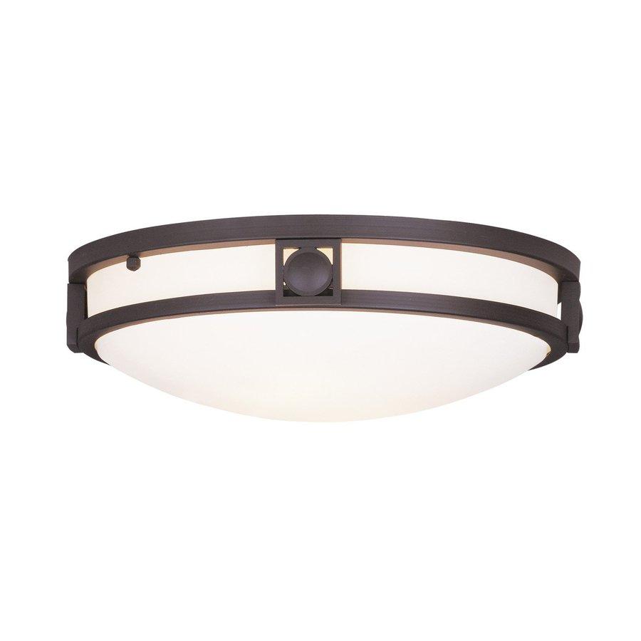 Livex Lighting Titania 13-in W Bronze Ceiling Flush Mount Light