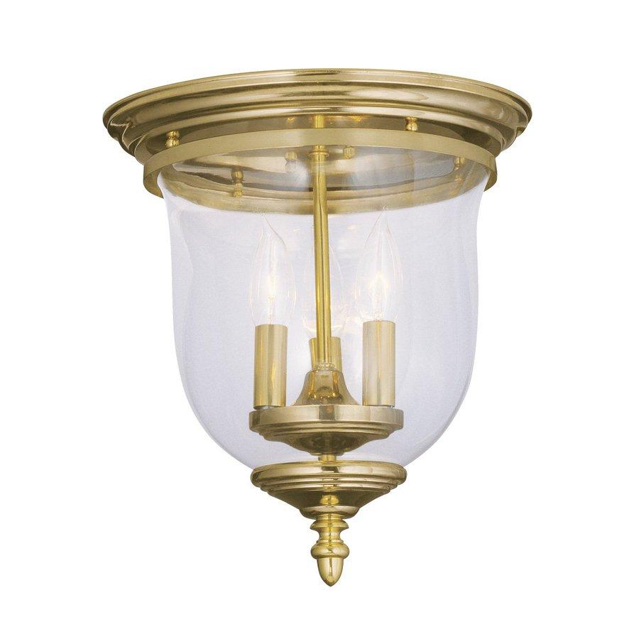 Livex Lighting Legacy 11.5-in W Polished Brass Ceiling Flush Mount Light