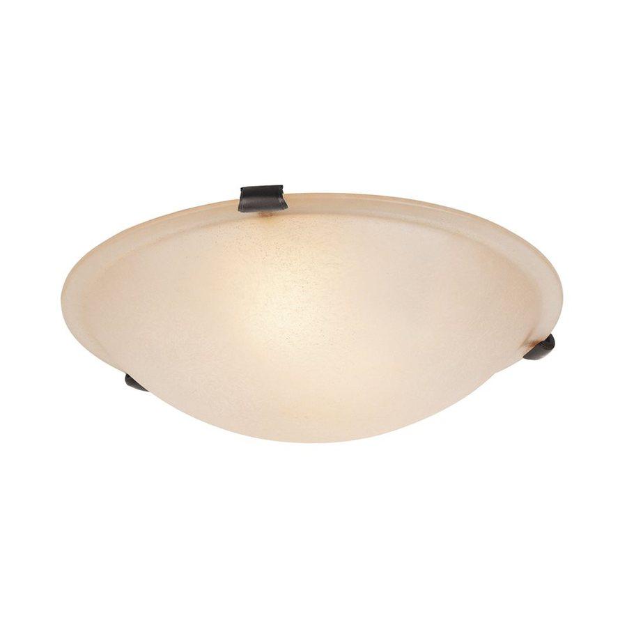 Livex Lighting Oasis 16-in W Bronze Ceiling Flush Mount Light