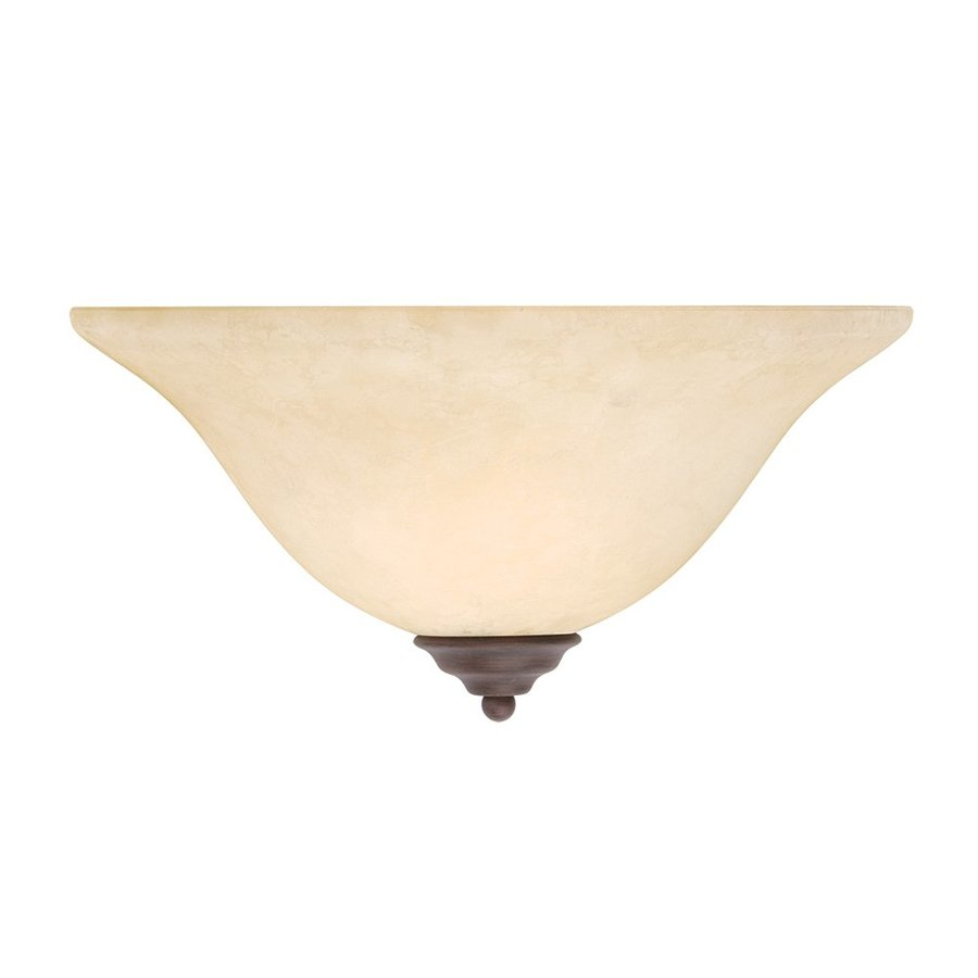 Livex Lighting Coronado 13-in W 1-Light Imperial Bronze Pocket Hardwired Wall Sconce
