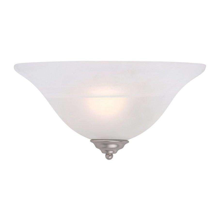 Livex Lighting Coronado 13-in W 1-Light Brushed Nickel Pocket Hardwired Wall Sconce