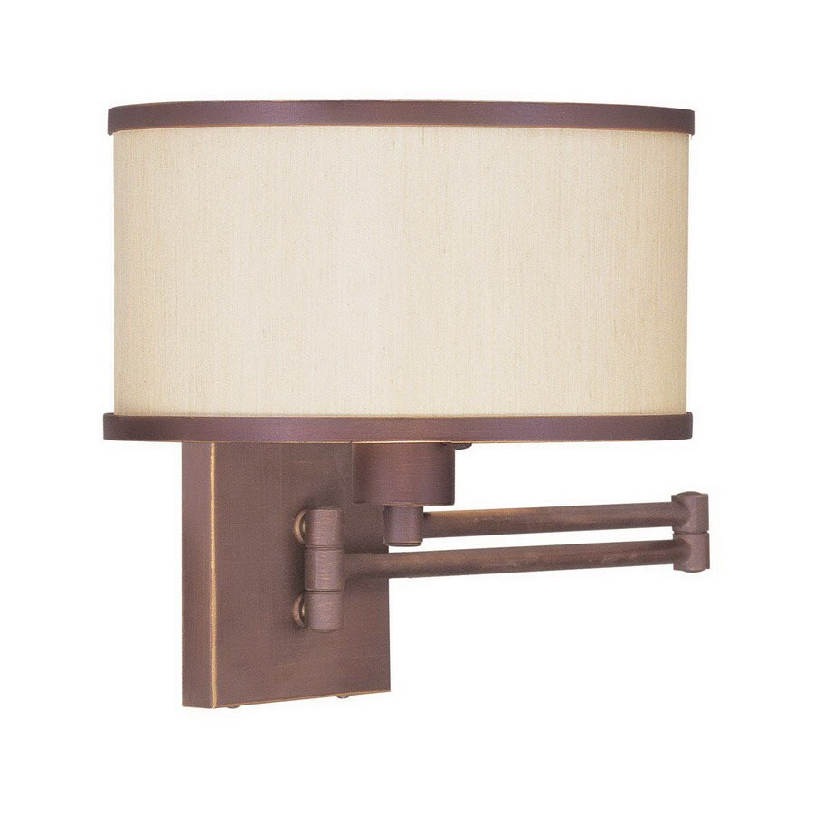 Livex Lighting Park Ridge 11-in W 1-Light Vintage Bronze Arm Hardwired Wall Sconce
