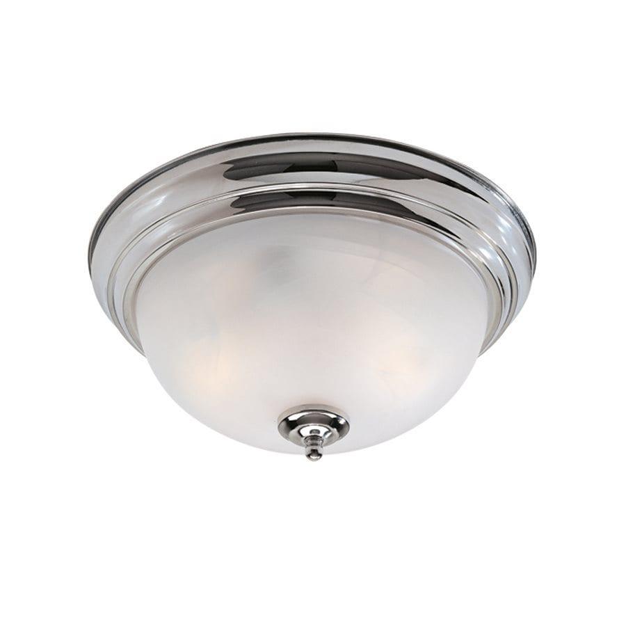 Ceiling Lights Chrome : Livex lighting regency in w chrome ceiling flush