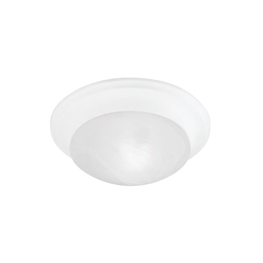 Livex Lighting Omega 9.5-in W White Ceiling Flush Mount Light