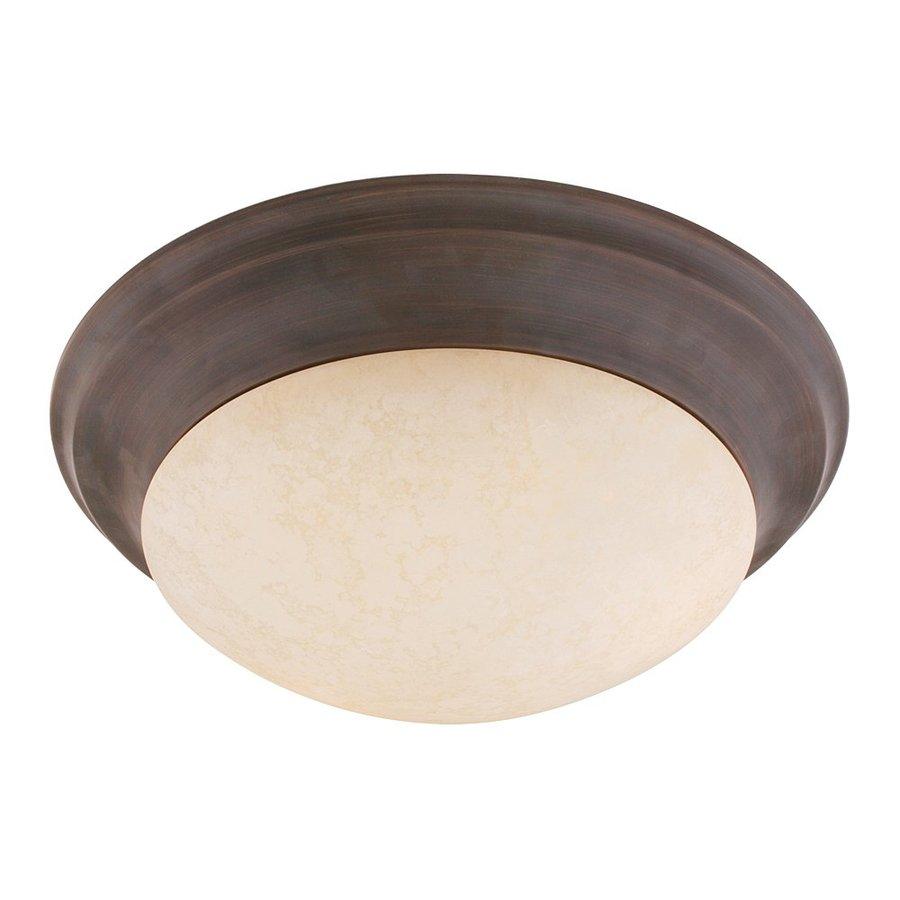 Livex Lighting Omega 16.5-in W Imperial Bronze Ceiling Flush Mount Light