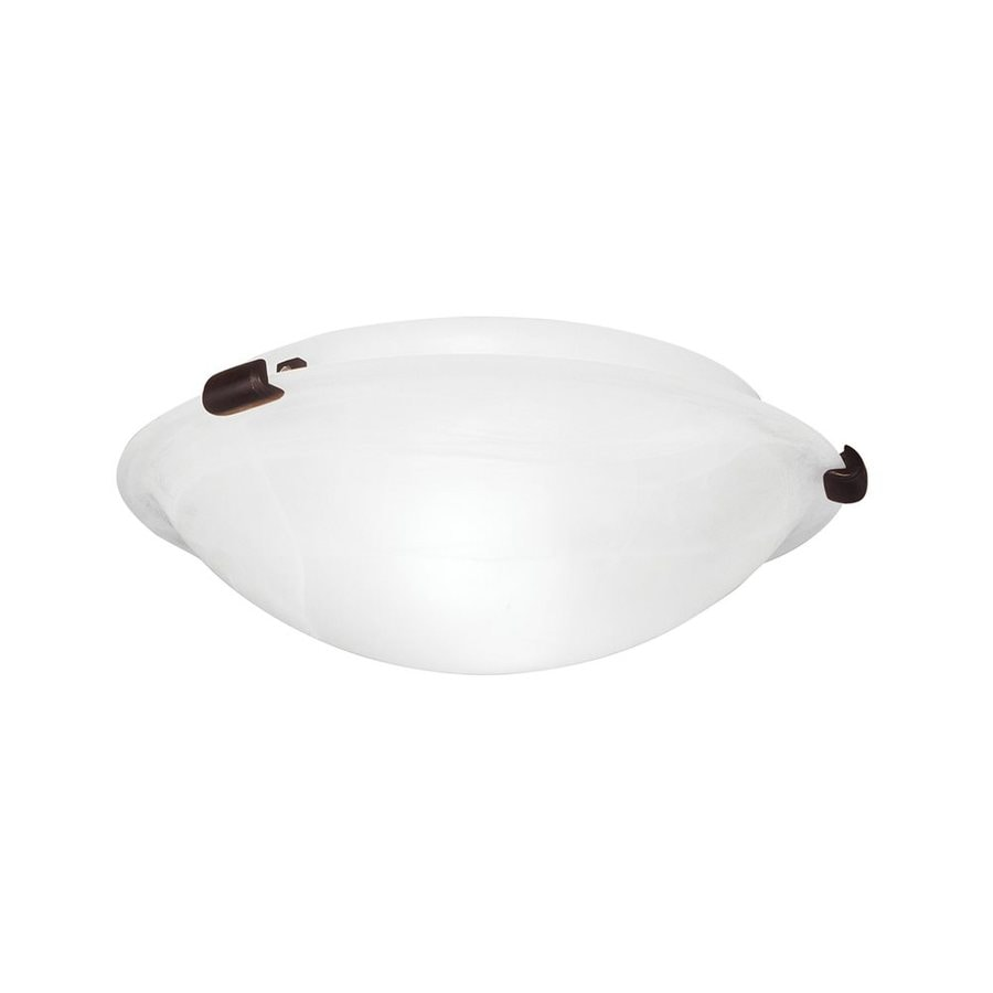 Livex Lighting Oasis 12-in W Bronze Ceiling Flush Mount Light