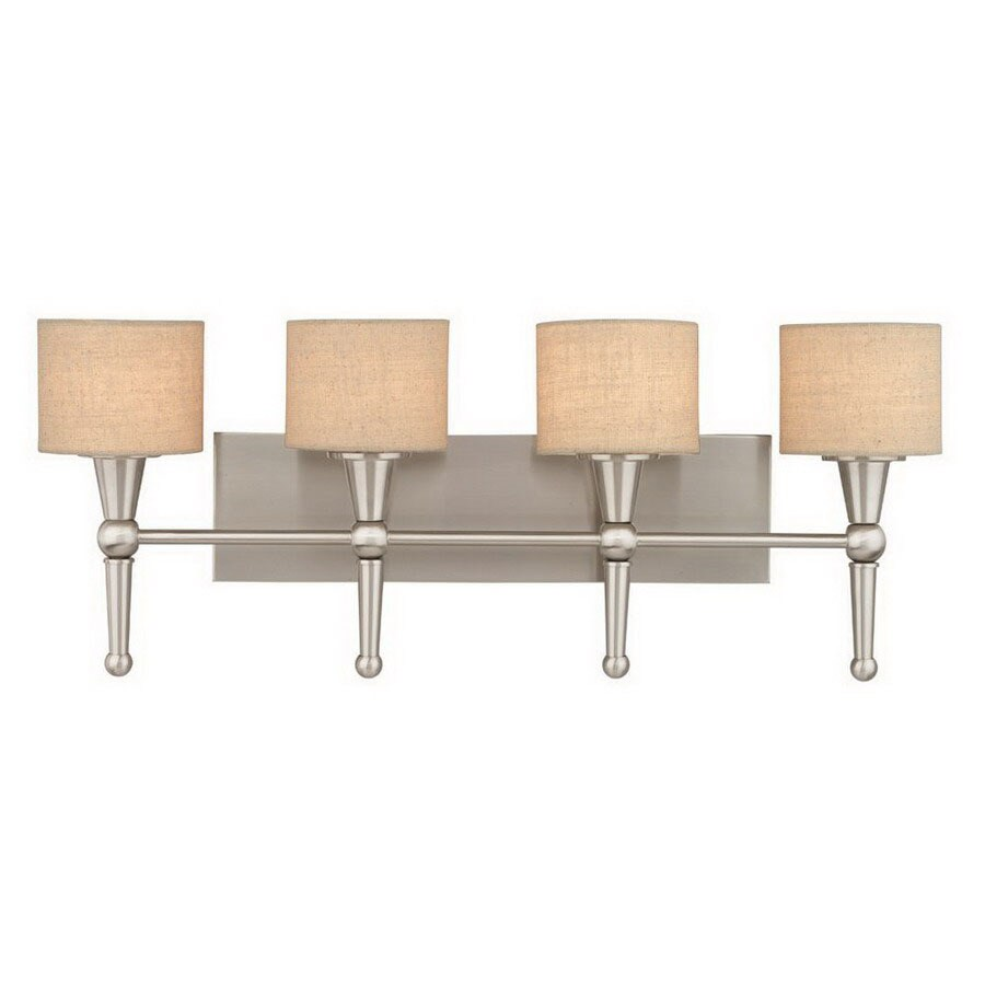 Shop Thomas Lighting 4-Light Allure Brushed Nickel Art Glass Bathroom Vanity Light at Lowes.com