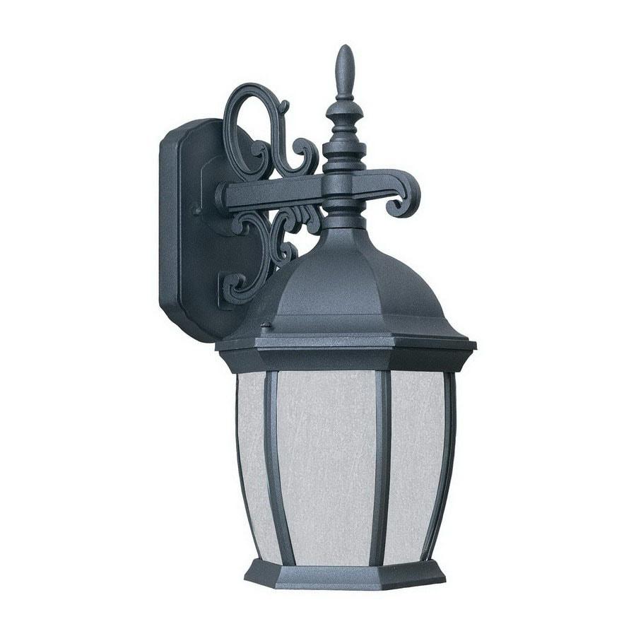 Thomas Lighting Convington 16-in Black Outdoor Wall Light ENERGY STAR