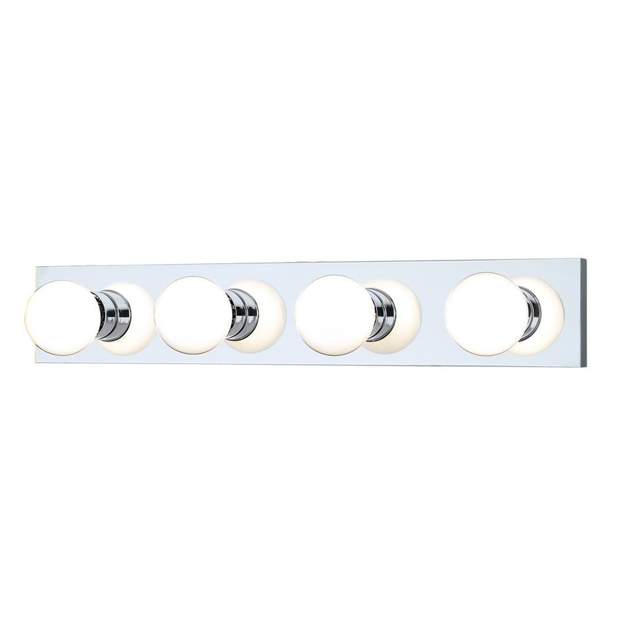 Vanity Light Bulb Strip : Shop Thomas Lighting 4-Light Strip Chrome Bathroom Vanity Light at Lowes.com
