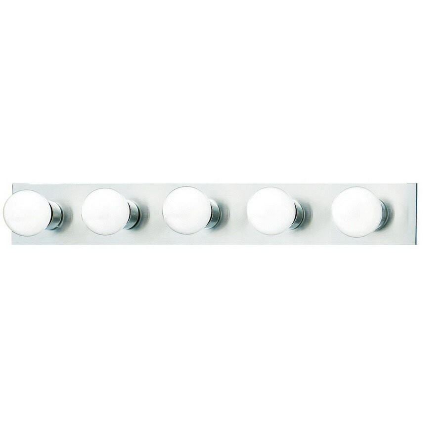Shop Thomas Lighting 5 Light Strip Brushed Nickel Bathroom Vanity Light At