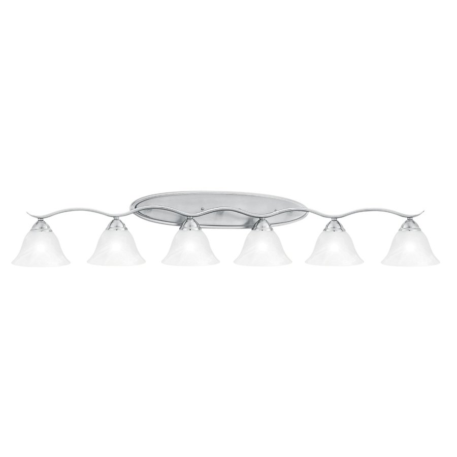 Thomas Lighting 6-Light Prestige Brushed Nickel Bathroom Vanity Light